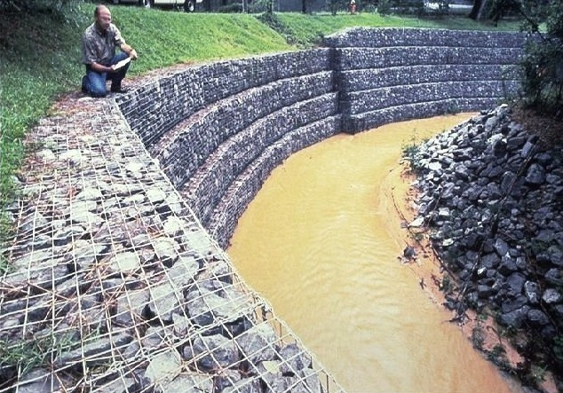 How gabions control flood water